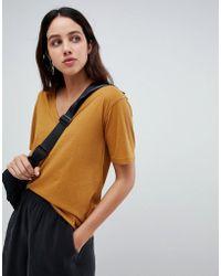 Weekday - Last V-neck T-shirt - Lyst