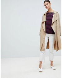 French Connection - Erna Drape Wool Blend Short Trench Coat - Lyst
