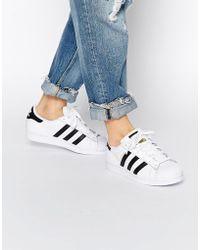 397a91ebd07a adidas Originals - Originals Unisex Superstar White   Black Sneakers - Lyst