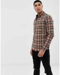 76c849cad368 ASOS Skinny Shirt In Burgundy Twill With Grandad Collar And Long ...