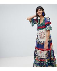 Anna Sui - Exclusive Maxi Dress In New York Print - Lyst
