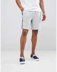 894e1daa6 Tommy Hilfiger - Authentic Sweat Shorts Side Logo Taping In Grey Marl - Lyst
