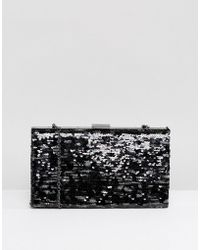 Nali - Camoflage Sequin Clutch Bag - Lyst
