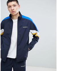 ac0d90e91a62 Converse Micro Dot Track Jacket In Blue 10003392-a01 in Black for ...