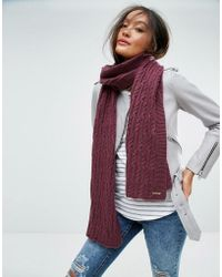 Alice Hannah - Cable Knit Scarf - Lyst