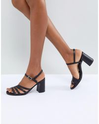 Vagabond - Cherie Strappy Leather Heeled Sandals - Lyst