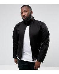 ASOS - Plus Harrington Jacket With Funnel Neck In Black - Lyst