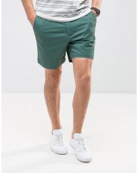 Abercrombie & Fitch Prep Fit Shorts In Green