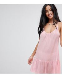 ASOS - T Back Tiered Beach Sundress - Lyst