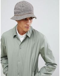 ASOS - Bucket Hat With Contrast Check Panelling - Lyst