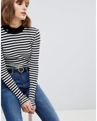 Maison Scotch - Stripe Turtleneck Jumper - Lyst
