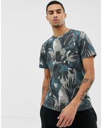 Another Influence - T-Shirt mit dunklem Military-Muster - Lyst