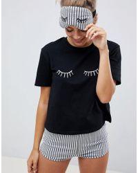 ASOS - Sleepy Eyes Tee And Short Pyjama Set - Lyst