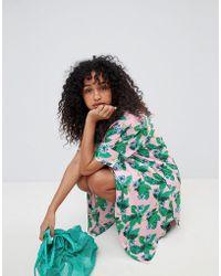 Monki - Pink Tropical Beach Shirt Dress - Lyst