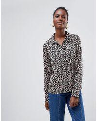 Vila - Boho Print Shirt - Lyst