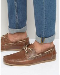 Red Tape - Boat Shoes In Leather - Tan - Lyst