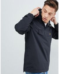 Lyle & Scott - Lightweight Overhead Jacket In Black - Lyst