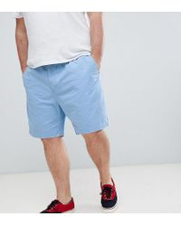 Polo Ralph Lauren - Big & Tall Prepster Drawstring Chino Shorts Player Logo In Blue - Lyst