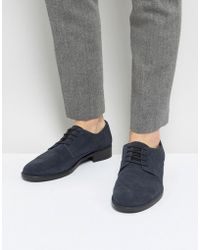 Frank Wright - Lace Up In Navy Suede - Lyst