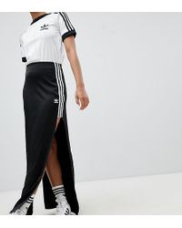 adidas Originals - Fashion League Maxi Skirt With Extreme Slit - Lyst