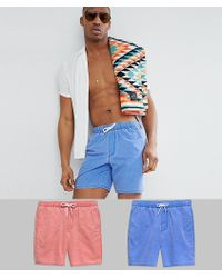 ASOS - Lot de 2 shorts de bain mi-longs - Lyst