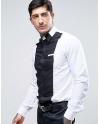 Rogues Of London - Skinny Cut And Sew Shirt - Lyst