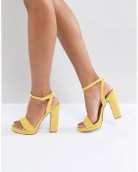 9d2d063493f Truffle Collection - Slim Platform Sandal - Lyst