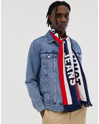 Tommy Hilfiger - Heritage Logo Knitted Scarf In Navy - Lyst