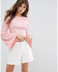 Oeuvre - Flare Sleeve Blouse - Lyst