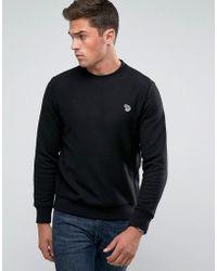 PS by Paul Smith - Zebra Logo Sweatshirt In Black - Lyst