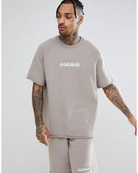 Napapijri - Buka Short Sleeve Sweat In Gray - Lyst