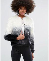 Lipsy - Ombre Faux Fur Short Jacket - Lyst