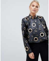 Forever Unique - Oversized Leather-effect Jacket - Lyst