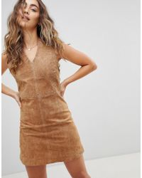 Pepe Jeans - New Clare Real Suede Dress - Lyst