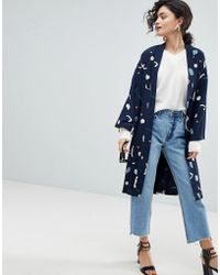 SELECTED - Femme Printed Kimono - Lyst