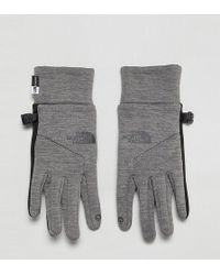 The North Face - Womens Etip Gloves In Grey - Lyst