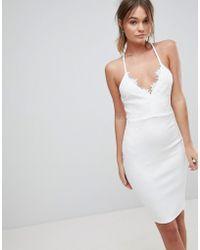 AX Paris - Lace Bodycon Dress - Lyst