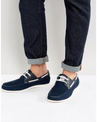 Lambretta - Boat Shoes Navy - Lyst