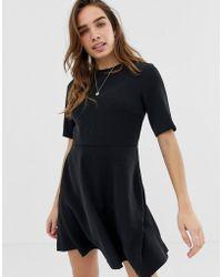 Calvin Klein - Flared Satin Dress - Lyst