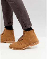 Jack & Jones - Suede Lace Up Boots - Lyst