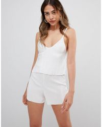 Missguided - Strappy Playsuit - Lyst