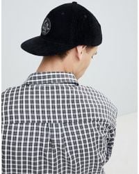 Globe - Cord Cap With Patch Front Detail In Black - Lyst