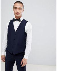 French Connection - Slim Fit Peak Collar Tuxedo Waistcoat - Lyst