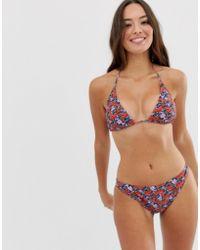 d4216af4bb7b Gestuz Leopard Print Bandeau Bikini Top With Detachable Straps - Lyst