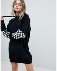 ASOS - Checkerboard Hoody Dress - Lyst