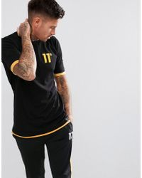 11 Degrees - Muscle Layered T-shirt In Black - Lyst