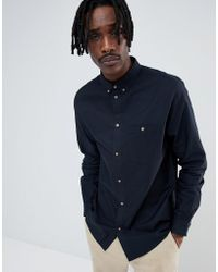 Weekday - Bad Times Shirt Navy - Lyst