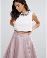 Madam Rage - Madam Block White Crop Top - Lyst