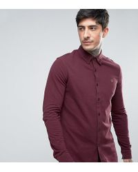 Farah - Pique Jersey Shirt Exclusive In Red - Lyst