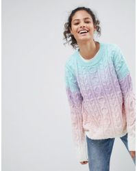 ASOS - Chunky Jumper In Ombre - Lyst